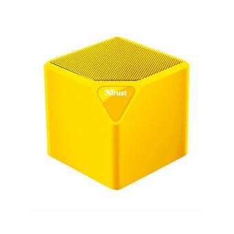 Altavoz Inalámbrico Trust Primo Wireless Bluetooth Speaker Amarillo Mini 3w rms Bluetooth USB Microsd y aux