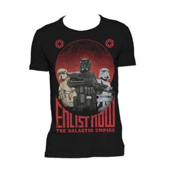Camiseta Star Wars Rogue One Enlist Now, Talla L