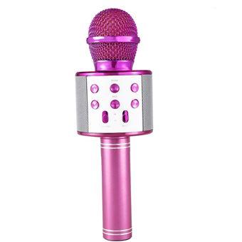 Microfono inalambrico bluethooth Klack karaoke micro voz wirelles 858 rosa