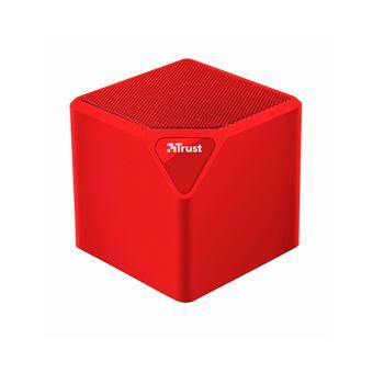 Altavoz Inalámbrico Trust Primo Wireless Bluetooth Speaker Rojo Mini 3w rms Bluetooth USB Microsd y aux