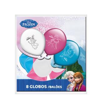 Pack de 8 Globos Para Fiesta de Frozen