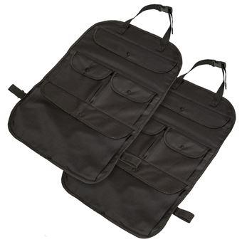 2 bolsos organizadores para asiento coche, Negro