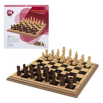 Ajedrez de madera 33 piezas - CBGames