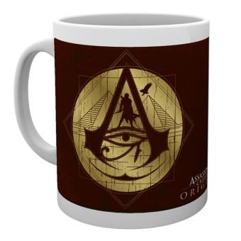 Taza Assassins Creed Origins Iconos dorados