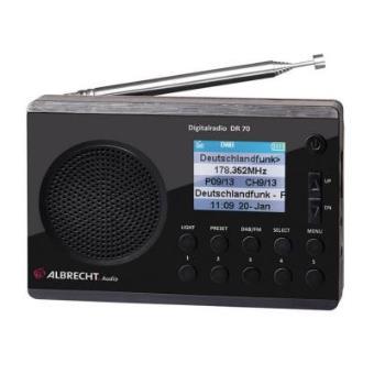 Albrecht DR 70 Portátil Digital Negro radio