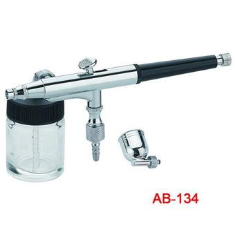 Pistola de aerógrafo aerografia ab-134 accion doble y cubilete lateral