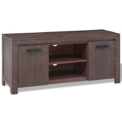 Mueble para TV madera de acacia estilo ahumado 120x38x55 cm - Mueble ...