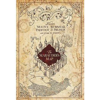 Póster Harry potter « maurauder's map » (91.5x61)