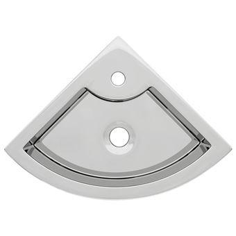 Lavabo vidaXL con rebosadero 45x32x12,5 cm cerámica plateado