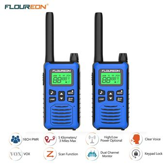 Walkie-Talkie Floureon PMR 446MHZ 5000M Azul