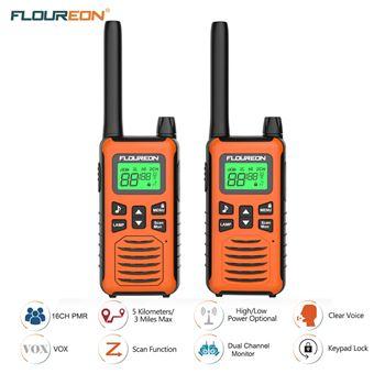 Walkie-Talkie Floureon PMR 446MHZ 5000M Naranja