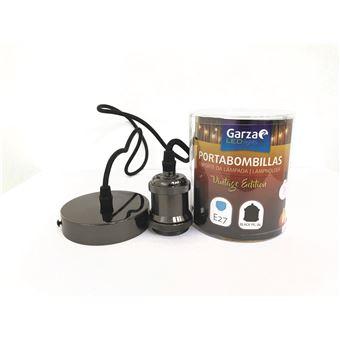 Portabombillas Cable pendant Vintage Black Pearl, cable textil, casquillo E27 cable textil 1metro
