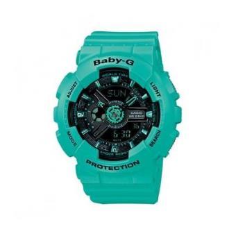 Reloj Casio BA-111-3A Baby-g estándar Analógico-Digital de las mujeres  (verde) - Reloj Mujer Deporte - Los mejores precios  aa19c4453ab7