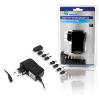 HQ Universal Adapter 230 - 5 V + 8 Plugs