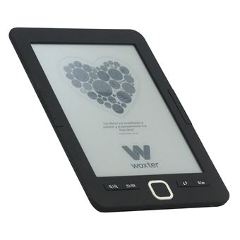 "Ebook Woxter Scriba 195 Black, pantalla de 6"" E-Ink, 4 Gb + Micro-SD"