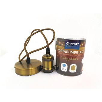 Portabombillas Cable pendant Vintage Gold, cable textil, casquillo E27 cable textil 1metro