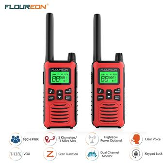 Walkie-Talkie Floureon PMR 446MHZ 5000M Rojo