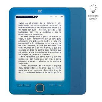 Libro electrónico Woxter Scriba 195 Paperlight Blue con pantalla retroiluminada