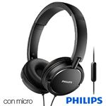 Auriculares Cascos Philips Extra Bass (Cable Jack 3.5 mm) Negro