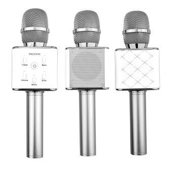 Micrófono Altavoz Inalámbrico Prixton Bluetooth Plata