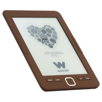 "Ebook Woxter Scriba 195 Chocolate, pantalla de 6"" E-Ink, 4 Gb + Micro-SD"