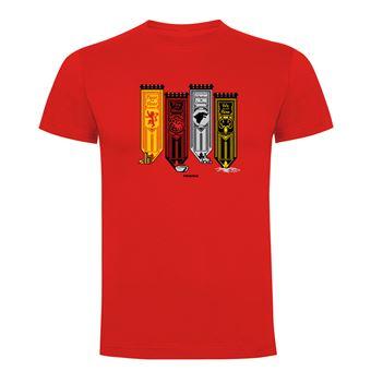 Camiseta manga corta Friking, Modelo 795 Juego de Tronos, choose your banner!, Talla XL, Rojo