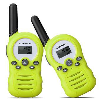 Walkie Talkie Floureon FR388A PMR 446MHZ de Radio de Dos Vías, Verde