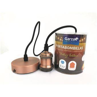 Portabombillas Cable pendant Vintage Rose Gold, cable textil, casquillo E27 cable textil 1metro