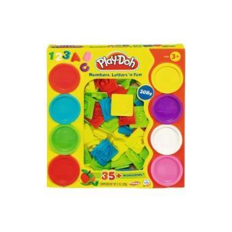 Hasbro 21018 Play Doh - Kit de plastilina - Números y letras