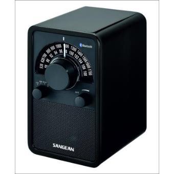 Radio Analógica de madera Sangean WR-15 BT Glossy Black