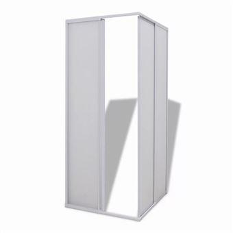 Mampara de ducha conMarco de aluminio, 80 x 80 cm