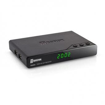 Receptor Satélite Tboston Ts2002 HD Twin Dvb-s2 HD Antena Wifi USB pvr Timeshift USB Reproductor Multimedia