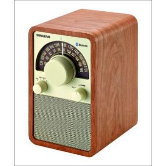 Radio Analógica de madera Sangean WR-15 BT Walnut