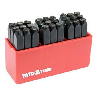 Herramientas de estampado de letra Yato, 27 piezas de 6 mm