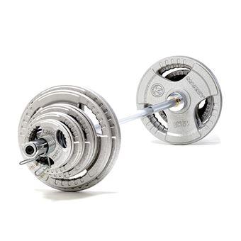 Juego olímpico de barra y discos con triple agarre de 100kg marcy-10000945