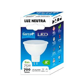 Bombilla LED GU10 8W 110º 700 lumenes 40K