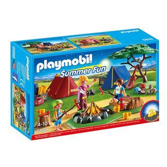 PLAYMOBIL 6888 Summer Fun - Campamento con fogata LED