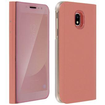 de5bba6e851 Funda Libro Efecto Espejo Rosa Samsung Galaxy J7 2017 Tapa translúcida  Soporte - Fundas y carcasas para teléfono móvil - Los mejores precios | Fnac