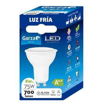 Bombilla LED GU10 8W 110º 700 lumenes 65K