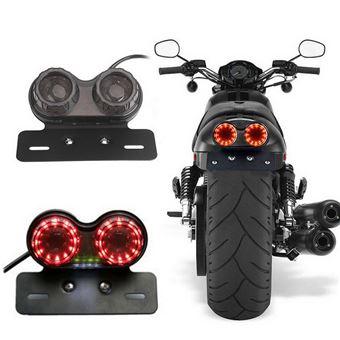 Luz trasera de la motocicleta El plastico DC 12V