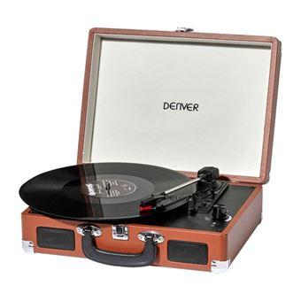 Tocadiscos Retro Denver VPL-120 BR de color marrón