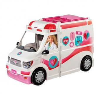 Mattel - Barbie Ambulancia Hospital 2 en 1