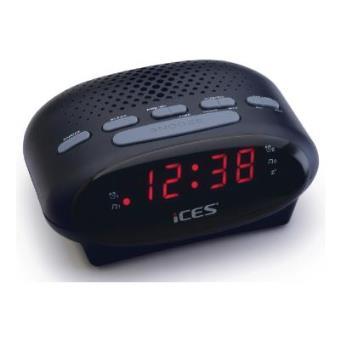 Ices ICR-210 Reloj Negro radio