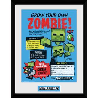 Fotografía enmarcada Minecraft Grow Your Own Zombie 30x40 cm