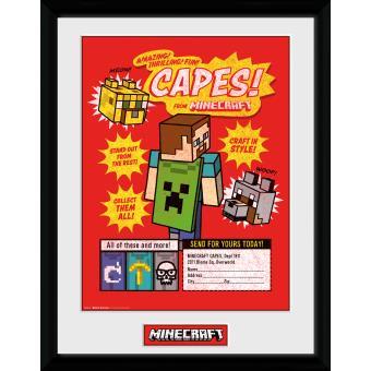 Fotografía enmarcada Minecraft Hazte con todos 30x40 cm