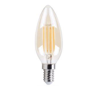 XQ-Lite E14 XQ1462G Bombilla de vela LED dorada de 4W equivalente a 30W extra cálido blanco