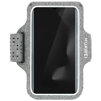 Funda móvil para correr Huawei Táctil, Tejido que respira, Gris