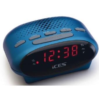 Ices ICR-210 Reloj Azul radio