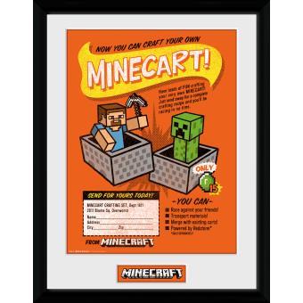 Fotografía enmarcada Minecraft Fabrica tu propio Minecraft 30x40 cm