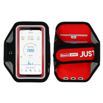 Funda móvil para correr Smartphones de 5 pulgadas Impermeable de Baseus, Rojo
